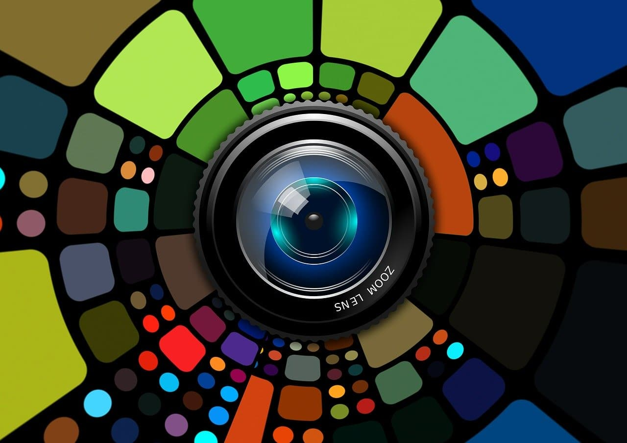 lens, colorful, background