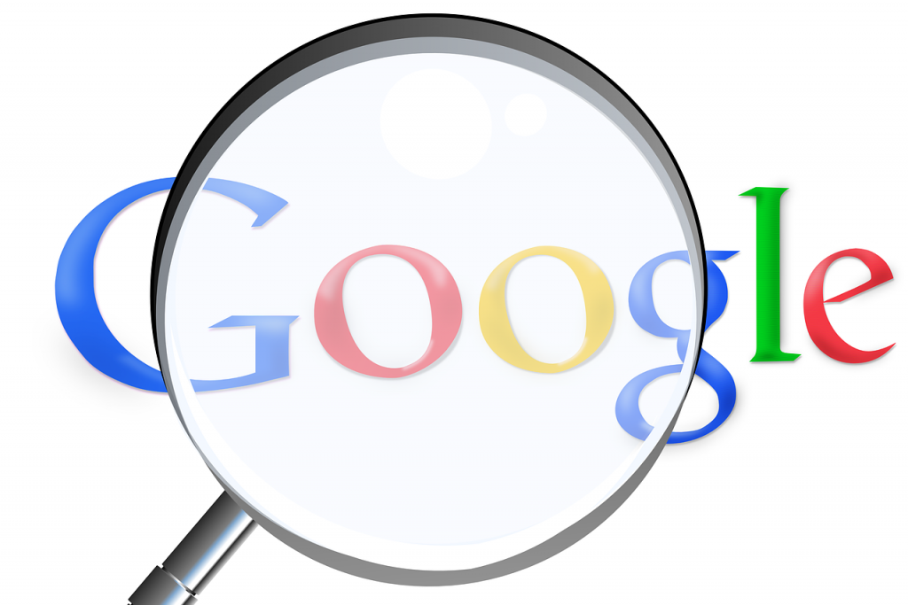 magnifying glass, google, search engine