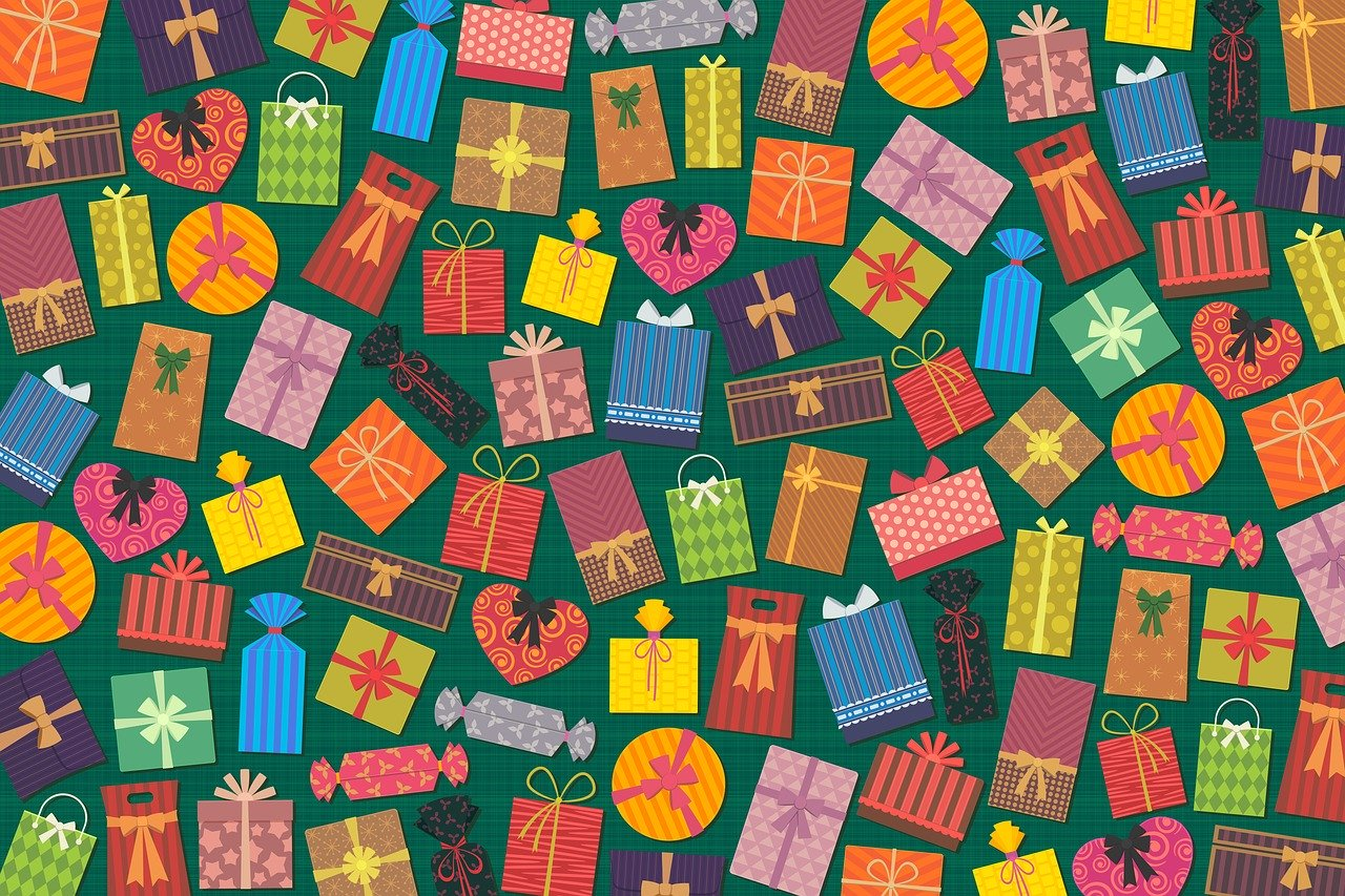 presents, gifts, colorful